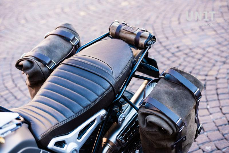 Seat Cover NineT Scrambler In Brown Leather