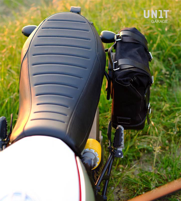 Waxed Suede Side Pannier Subframe Ducati Scrambler Ds