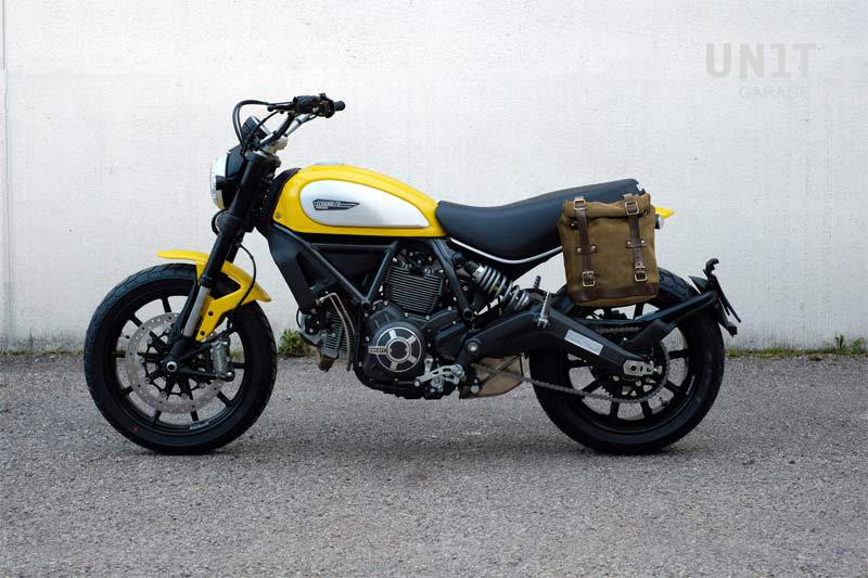 Waxed Suede Side Pannier Subframe Ducati Scrambler Series