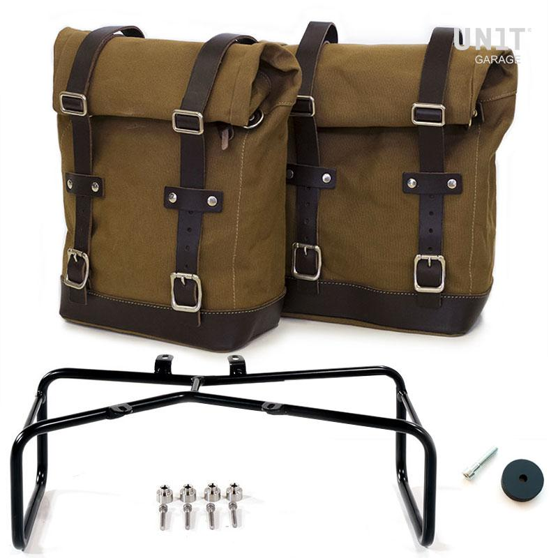 Two Side Panniers Canvas Double Subframe NineT