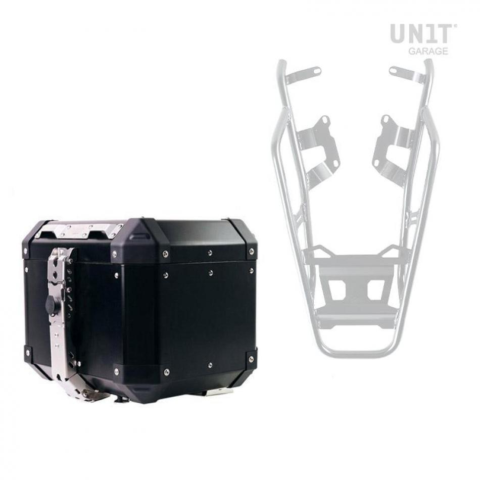 Atlas 36L Aluminum Top Case + Rear luggage rack with passenger grip