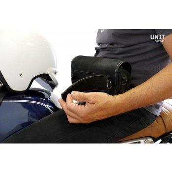Sahara handlebar bag Leather split