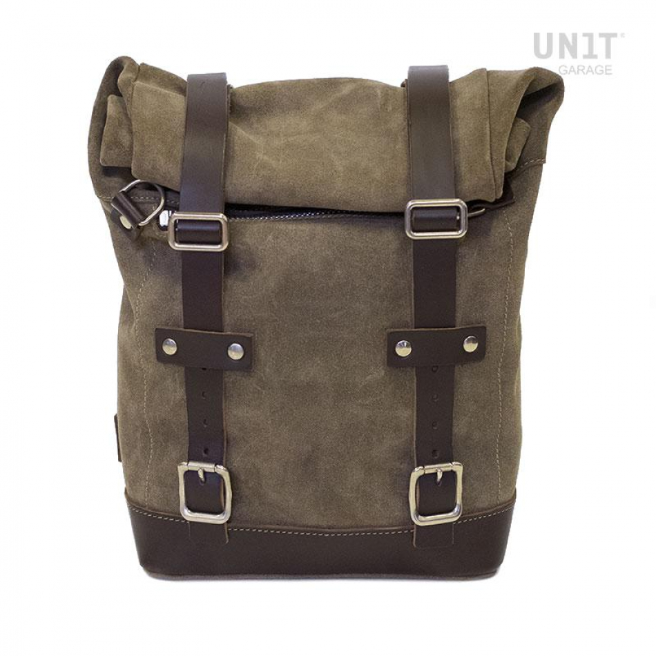 Side Pannier Waxed Suede