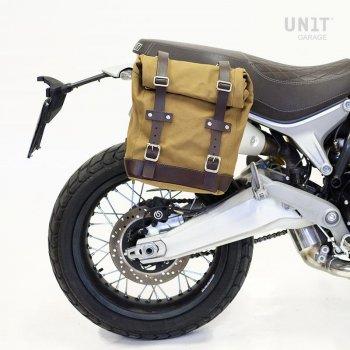 Side pannier Canvas + Ducati Scrambler 1100 subframe