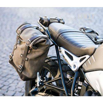 Waxed suede Side Pannier + Double Subframe NineT