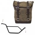 Waxed suede Side Pannier + Subframe Bmw GS 850/1100/1150 e AD