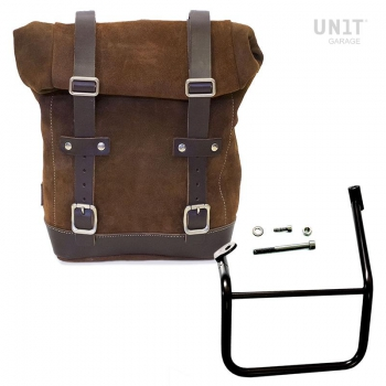 Waxed Suede Side Pannier + Left Subframe Caballero