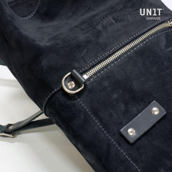 Waxed Suede Side Pannier + subframe Ducati Cafe Racer