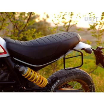 Waxed Suede Side Pannier + subframe Ducati Desert Sled