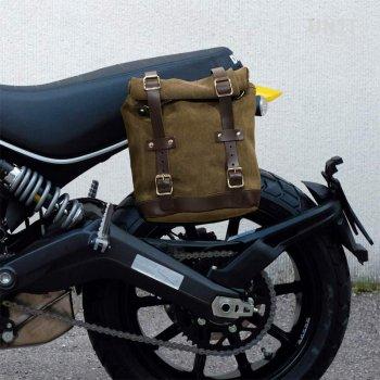 Waxed Suede Side Pannier + subframe Ducati Scrambler