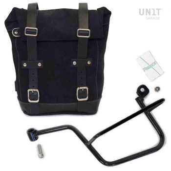 Waxed Suede Side Pannier + Subframe Guzzi V7 SX