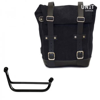 Waxed Suede Side Pannier + Right Subframe Guzzi V85 TT