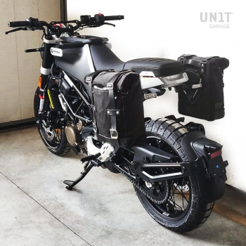 Waxed Suede Side Pannier + Right Subframe husqvarna 401 (2020 until now)