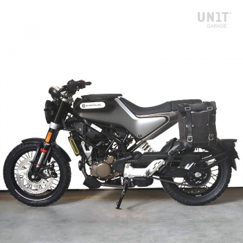 Waxed Suede Side Pannier + Left Subframe husqvarna 401 (2020 until now)