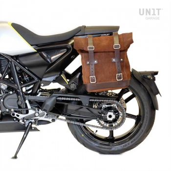 Waxed Suede Side Pannier + Subframe husqvarna 701