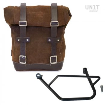 Waxed Suede Side Pannier + Left Subframe Kawasaki Z900RS
