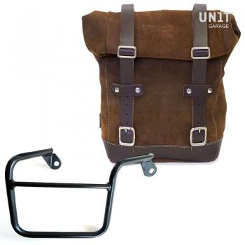 Waxed Suede Side Pannier + Right Subframe Mash
