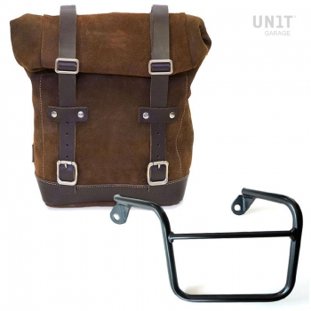 Waxed Suede Side Pannier + Left Subframe Mash