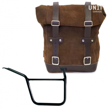 Waxed Suede Side Pannier + Right Subframe Pan America 1250