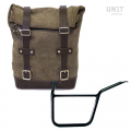 Waxed Suede Side Pannier + Left Subframe Pan America 1250