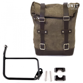 Waxed Suede Side Pannier + Subframe R1200 GS