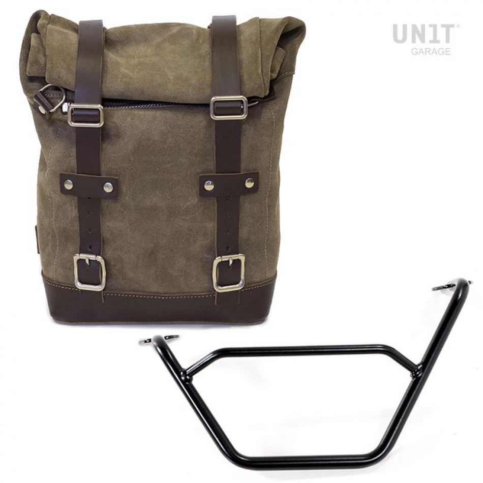 Waxed Suede Side Pannier + Subframe R1200 GS LC