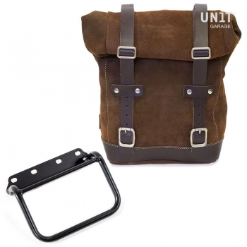 Waxed Suede Side Pannier + subframe R80 G/S