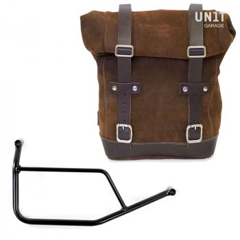 Waxed Suede Side Pannier + Subframe R 1200 R