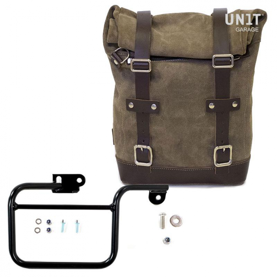 Waxed Suede Side Pannier + Subframe K Series