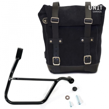 Waxed Suede Side Pannier + Subframe Triumph Street Series DX