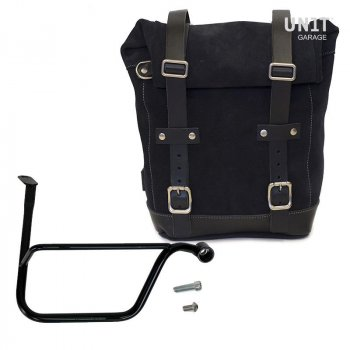 Waxed Suede Side Pannier + Right Subframe Triumph Speed Twin