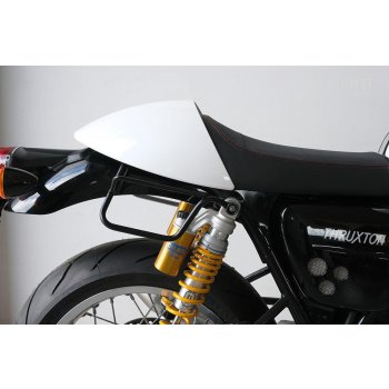 Waxed Suede Side Pannier + Right Subframe Triumph Thruxton