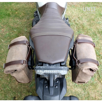 Waxed Suede Side Pannier + Left Subframe Yamaha SX