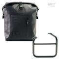 Khali side pannier in TPU + Left frame for Ducati Scrambler 1100 with double exhaust on the right