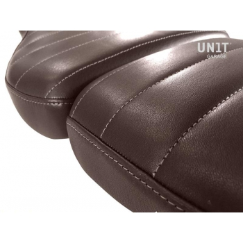 Seat cover in Brown Leather