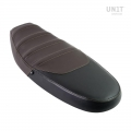 Seat cover in leather Black/Brown
