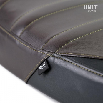 Seat cover in leather (long seat)