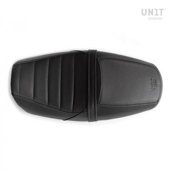 Seat cover in Black Leather (long seat)