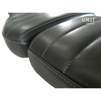 Seat cover in Brown Leather (double seat)