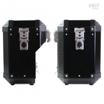 Pair of Atlas 47L + 41L Aluminum panniers with Yamaha frames