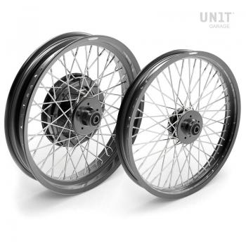 Pair of spoked wheels R100RS 48M6 (DISC BRAKE)