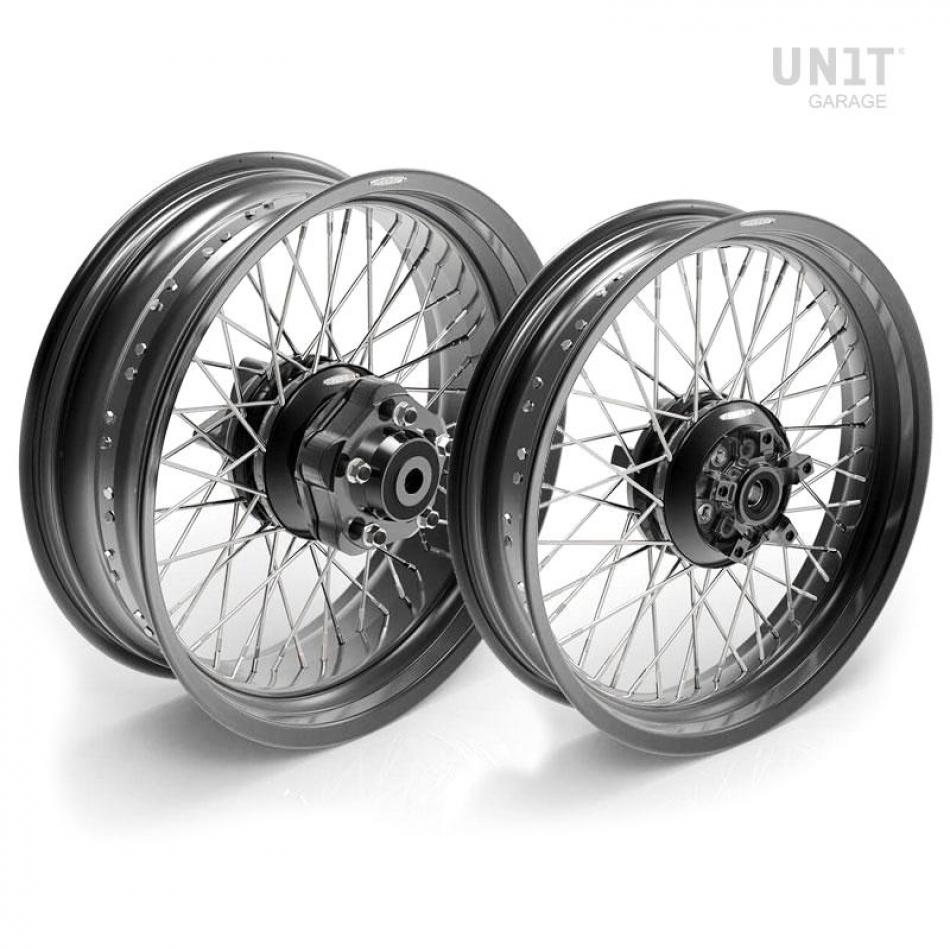 Pair of spoked wheels Triumph T100 48M6