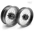 Pair of spoked wheels Triumph T120 48M6