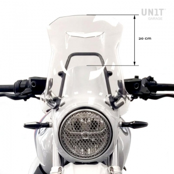 Windshield with GPS support for Triumph 1200 XC-XE