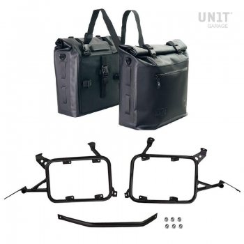 Two Khali side panniers in TPU 35L - 45L with Inox SubframeR1200GS LC - R1250GS & ADV