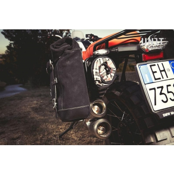 Two Waxed suede Side Panniers + Double Subframe NineT Scrambler