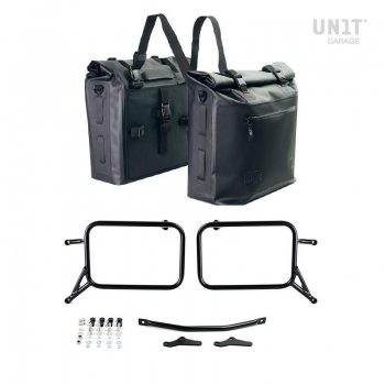 Two Khali side panniers in TPU 35L - 45L with Inox Subframe R115 GS