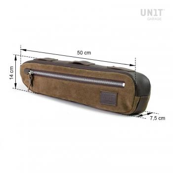 Leather split frame pack