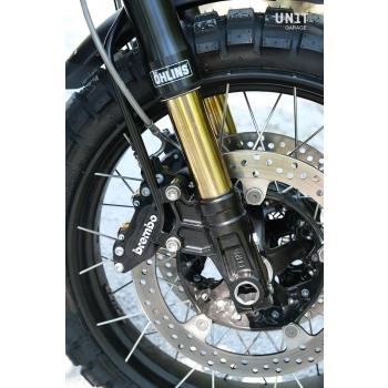 Ohlins USD fork kit + Unit Garage plates and feet