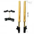 Ohlins USD fork kit + Unit Garage triple clamp